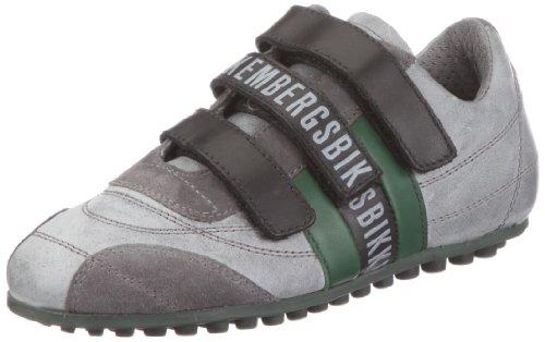 Bikkembergs Soccer Old Leath/Leath.Grey/DK.Green BKJ101523 - Zapatillas de Cuero para niños, Color Gris, Talla 35