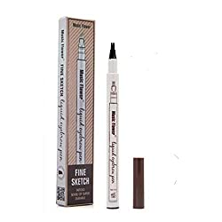 Tattoo Eyebrow Pencil with Tips Long Lasting Waterproof Brow Pencils Brow Gel for Naturally Eye Makeup (# 2 Brown)