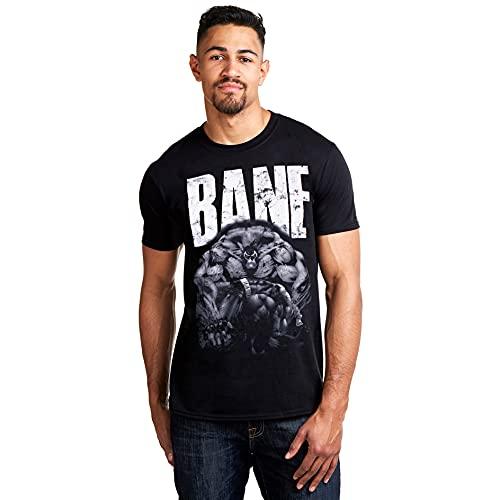 DC Comics Bane Camiseta, Negro (Black...