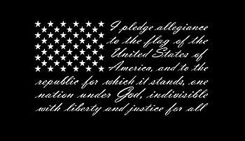 American Flag Pledge of Allegiance Vinyl Truck Window Sticker Decal  17  x 29