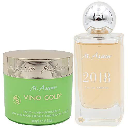 M. Asam® Vino Gold® Tages-und Nachtcreme 400ml + Eau de Parfum Jahresduft 2018-100ml