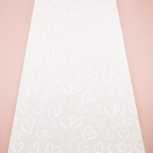 Hochzeitsläufer mit Herzen 1 x 23 m Hochzeitsteppich Läufer Eventteppich Kirche