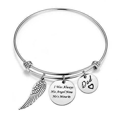 Memorial Bracelet I Was Always His Angel Now He