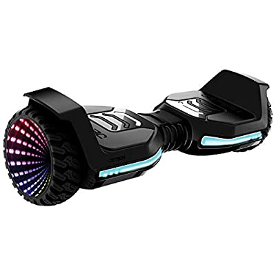 Jetson Flash Self Balancing Hoverboard, Includes All Terrain Tires, Reach Speeds up to 10 MPH, Features Bluetooth Speaker, Range of Up to 12 Miles, JFLASH-BB, Black