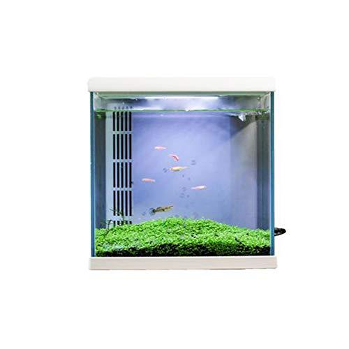 LSHUAIDJ Aquarium Aquarium Fish Home smart ökologische Aquarium faul freies Wasser Aquarium kreative selbstreinigende kleine Wohnzimmer Desktop Dekoration Ultra weißes Glas Aquarium