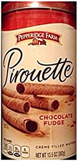 Pepperidge Farm Pirouette Chocolate Fudge Creme Filled Wafers (30 in Container)(pack of 3 Containers)