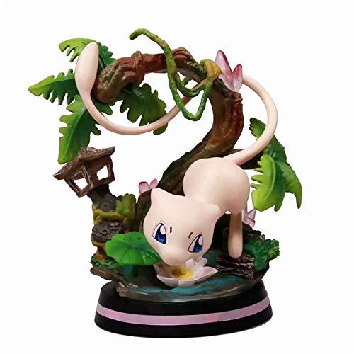 Pokemon Figurine Pokemon Pop Charmander Squirtle Bulbasaur Charmeleon Mewtwo Wartortle Figurine Pokemon Statue en PVC Figurine Statues Figurines Figurine Ornements 14CM (Mew)