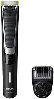 Philips OneBlade Pro QP6510/20 - Recortador de barba, recorta, perfila y afeita, mango suave, mojado y seco, recargable