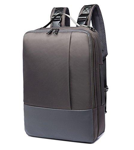 beibao shop Backpack Sacs à Dos pour Ordinateur Portable Commerce Casual 16,5 Pouces Épaules Square Extérieur Multi-Fonctionnel Sac à Dos d'ordinateur, Gray