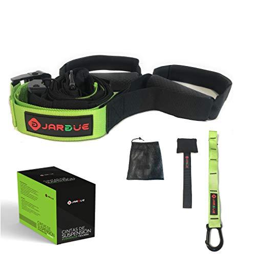 JARGUE Entrenamiento en casa en Suspension Kit o Suspension Trainer Ideal para Ejercicios de Fitness y Gimnasia Activa en su casa o al Aire Libre, tonifique Todo el Cuerpo