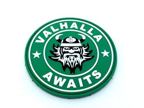 Patch Nation Valhalla Awaits Wikinger PVC Airsoft Paintball Klett Emblem Abzeichen