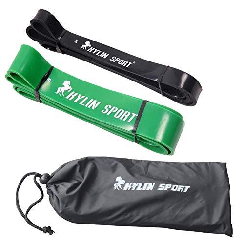 ZEH Elastische Spannung-Widerstand-Bänder Set, Gummi Loops Bands Bodybuilding Muskel Ausrüstung Expander mit Tasche FACAI (Color : Set B)