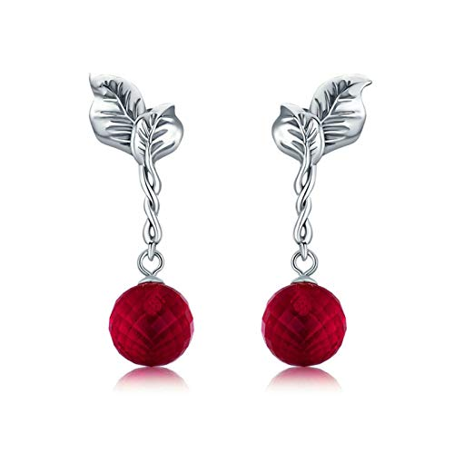 HMMJ S925 Sterling Silver Hypoallergenic Passion Fruit Drop Dangle Stud Earrings for Women and Girls