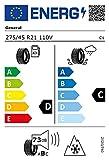 General 79128 Neumático Grabber At3 275/45 R21 110V para Turismo, Verano