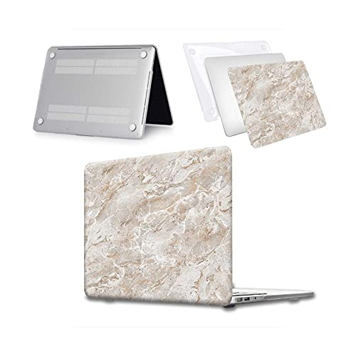 Funda rígida para portátil MacBook Air 13 A2337 A2179 2020 A2338 M1 Chip Pro 13 15 A2289 Nueva Touch Bar para Mac Book Pro 16 Case Beige Marble-Pro 13 A2251 A2289