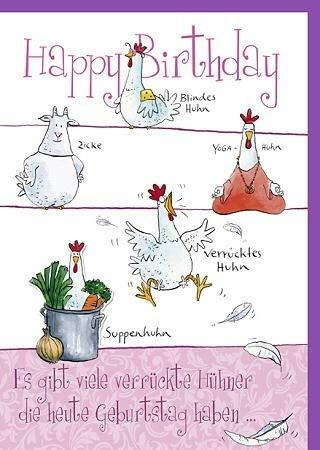 Witzige A4 Maxi Geburtstagskarte Verrücktes Huhn
