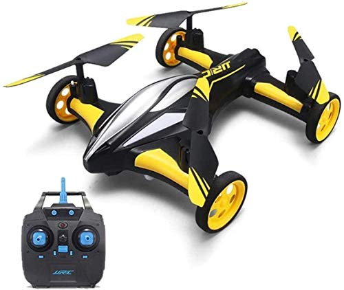 Bck 2.4Ghz Remote Control Drone One Key Return Remote 4-axis Gyroscope Aircraft Flight/Land Dual Mode 360° Roll Air Pressure Aerobatics Control Toys (Color : Yellow)