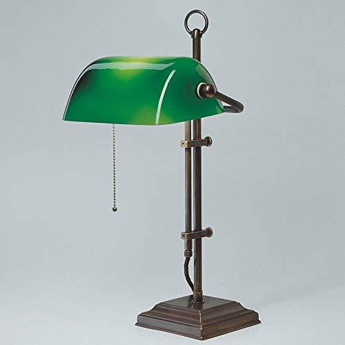Bankerlampe Schreibtischlampe Berliner Messing Antik W2-99gr A