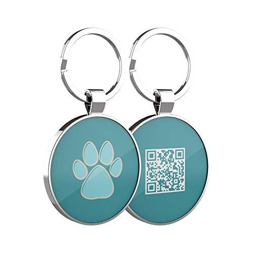 DISONTAG Etiquetas de identificación de mascotas, Etiquetas personalizadas para perros,Etiqueta de identificación de gato, Etiquetas de perro personalizadas,Pantalla de información única | Modiable