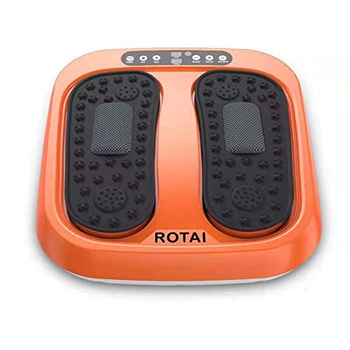 ROTAI Vibration Foot Massager Multi Relaxations and Pain Relief Rotating Acupressure Electric Foot...