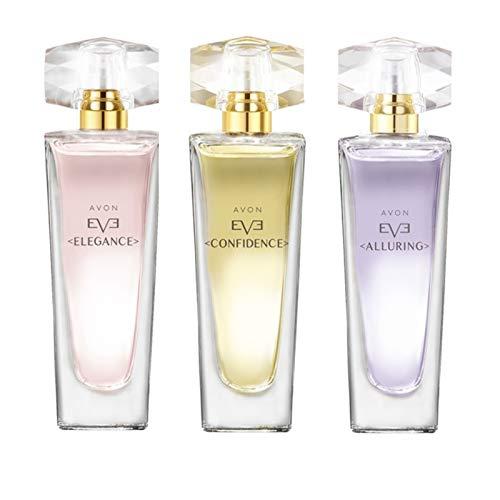 Avon 3er Duftset 1x Eve Alluring 1x EveConfidence 1x Eve Elegance Eau de Parfum je 30ml für Damen