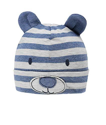 Döll Baby Jungen Jersey Topfmütze Bär, Größe:39, Präzise Farbe:Grau