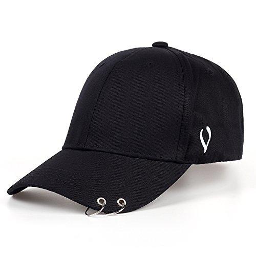 Lvntsx Las Gorras de béisbol Gorra de béisbol de Moda para Hombres Gorra Personalizada con Letras Bordadas Neutral Ajustable Adulto Hip-Hop Sombrero Gorra de algodón, Negro