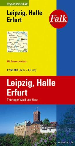Falk Regionalkarte Leipzig - Halle - Erfurt 1:150 000 Thüringer Wald und Harz