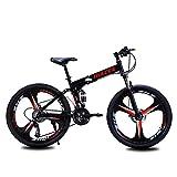 Unisex Mountain Bike 21/24/27 velocità Telaio in Acciaio ad Alto tenore di Carbonio 26 Pollici...