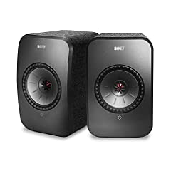 """Following the success of KEF LS50 wireless, lox includes a 4"""" Unit-Q driver to deliver astoundingly clear sound over 160 degrees of coverage and an fee designed cabinet with hidden Heatsink. Connect wirelessly via dual-band Wi-Fi connectivity, Blueto..."""
