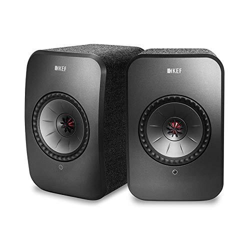 KEF LSX WLAN Lautsprecher Schwarz, Aktivlautsprecher | Airplay 2 | Musikstreaming | Multiroom | Bluetooth | Spotify | Tidal | Roon