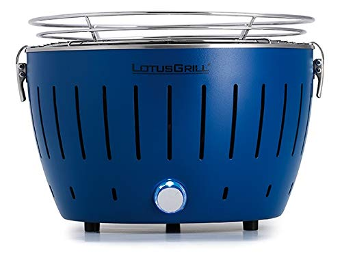 LotusGrill - Barbacoa compacta en 6 colores, azul intenso