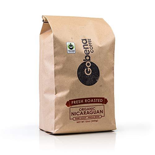 5lb Fair Trade Organic Nicaraguan Whole Bean Dark Roast Coffee