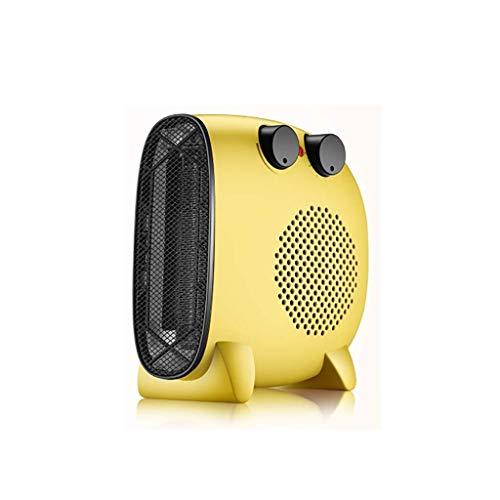 PLLP Elektrischer Haushaltslüfter, Heizlüfter Für Zu Hause Mit Niedrigem Energieverbrauch, Elektrische Heizlüfter Für Zu Hause, Tragbare Heizlüfter Mit Thermostat, Heizung Und Kühlerlüfter,Gelb