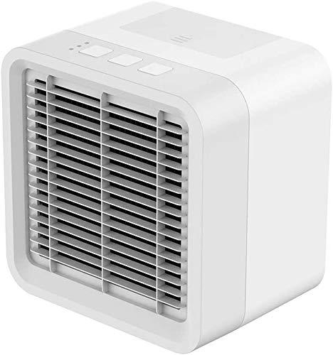 Elvoo El aire más fresco, mini ventilador del acondicionador de aire, USB ultra silencioso espacio personal Tabla Ventilador silencioso humidificador de aire portátil Pequeño refrigeradores evaporativ