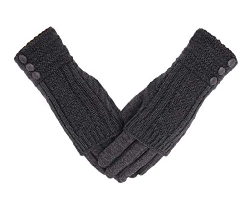 Tomily Winter Warm Knit Fingerless …