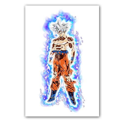 Klassischer Cartoon Anime Dragon Ball Z Super Charakter Goku Poster Comic Leinwand Gemälde Wandbild Kinderzimmer Kinderzimmer Schlafzimmer 80 * 120cm