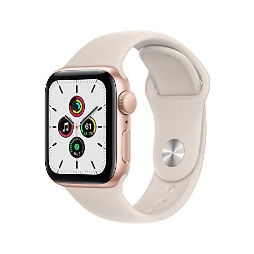 Apple Watch SE (GPS, 40mm) - Gold Aluminium Case with Starlight Sport...