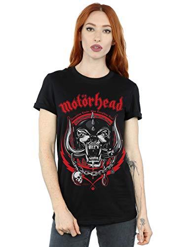 Absolute Cult Motorhead Mujer Lightning Wreath Camiseta del Novio Fit Negro Large