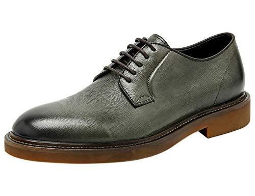 Zapatos de Cordones para Hombre Derby Cuero Casual Formal Oxford Zapatos de Vestir Verde 43 EU