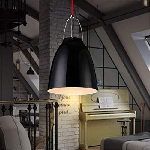 LKK-KK Iluminación pendiente de la lámpara del vintage que cuelgan del techo Luz Acabado Negro Art Room Decor Decoración de luminarias, de aluminio fundido Vivienda E27 for el dormitorio Comedor Corre