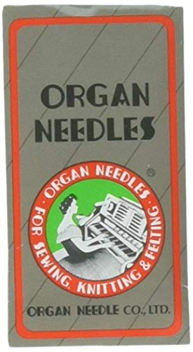 Ball Point Sewing Machine Needles Home-use By Organ Needles (10 Needles/pack), Select Size (Size 75 / 11 Ball Point)