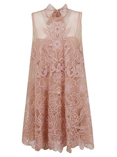 Valentino Luxury Fashion | Red Damen TR3VA11L4T5377 Rosa Viskose Kleid | Frühling Sommer 20