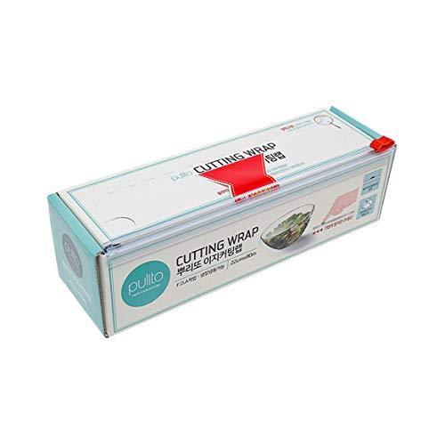 Monrodbitt Frischhaltefolie Cutter Korea Importierte Küche Haushalt Plastikfolie Einweg-Stretchfolie Lebensmittelqualität Wickelfolie (transparent)