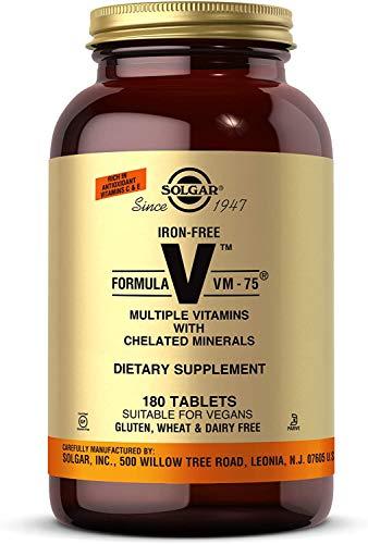 Solgar Iron-Free Formula VM-75, 180 Tablets - Multivitamin...