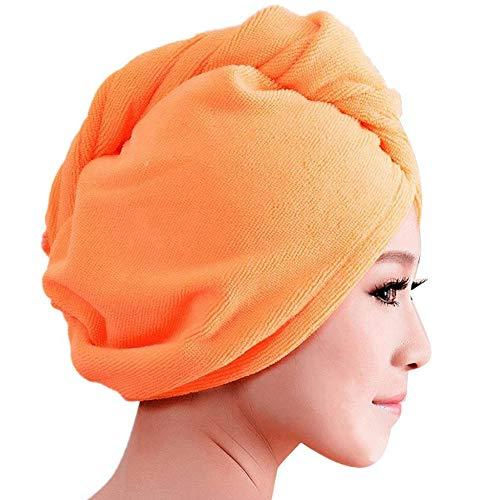 jasminelady Turbante de Pelo de baño para Mujer, Toalla de Secado rápido...