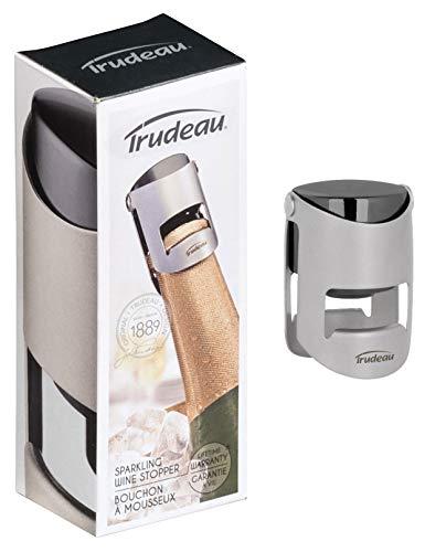 Trudeau Tapón sellador de vinos espumosos como Champagne o Cava. Conserva la efervescencia del vino abierto