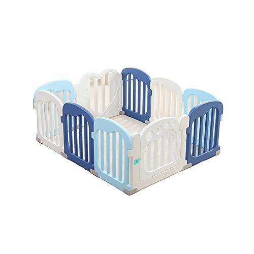 Childrens playpens Dziecko Kocie Kids Activity Center Bezpieczeństwo Play Yard Baby Fence Play Area Baby Gate Home Kryty Outdoor/Blue Dostępny w trzech rozmiarach (Size : 1.23mx1.53m)