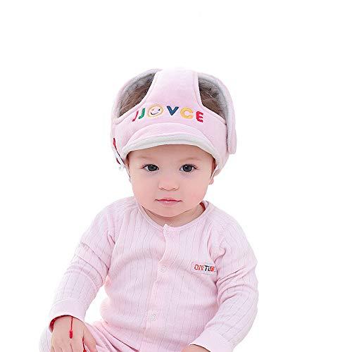 Eyand Baby Safety Helmet - Sombrero de casco de seguridad ajustable para niños pequeños,Sombrero de seguridad protector infantil suave,Sombrero de protección para la cabeza para caminar gateando(Rosa)