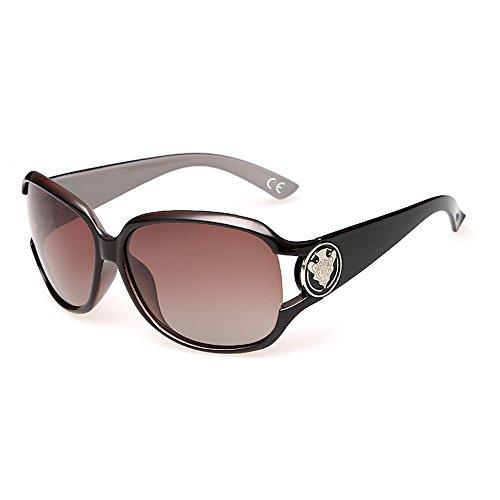 VeBrellen Gafas de Sol Polarizadas para Mujeres Moda Protección UV (Coffee)